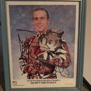 WWE Autograph HBK Shawn Michaels